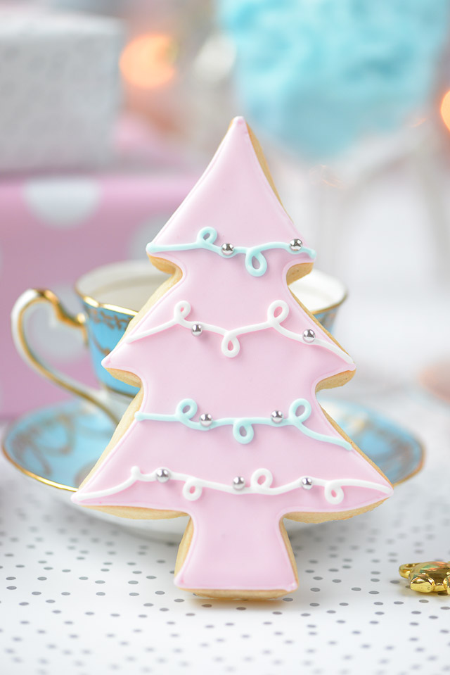 Pastel Christmas Tree Sugar Cookies Sweet Bake Shop